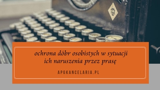Ochrona dóbr osobistych Kraków