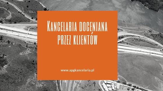 Kancelaria w Krakowie doceniana przez klientów